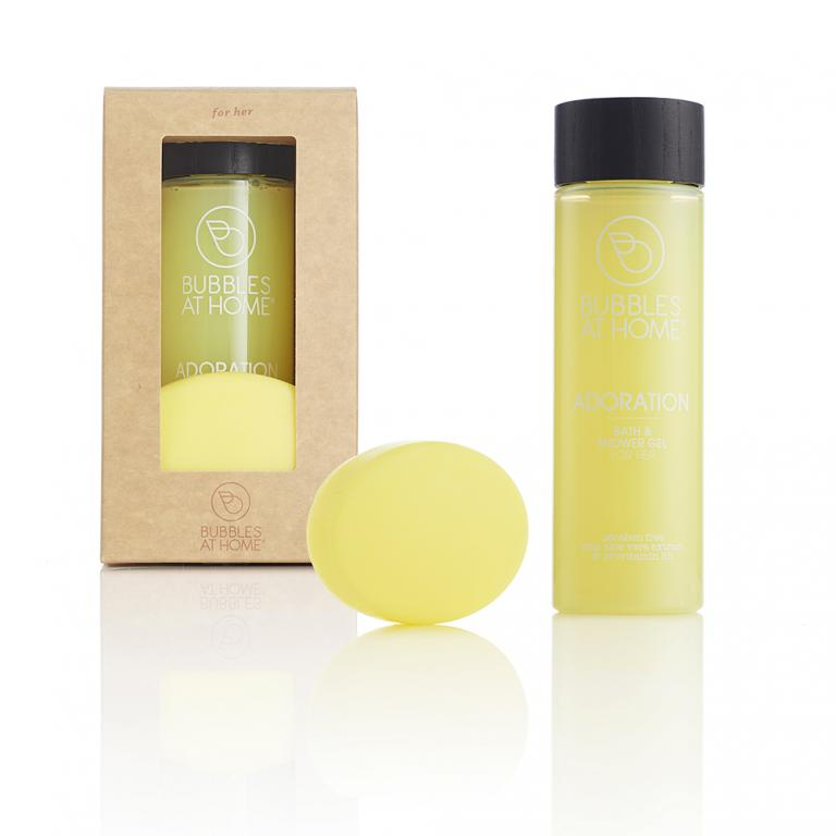 Gift Box Shower Cream and Glycerin Soap Fragrance for Her Adoration