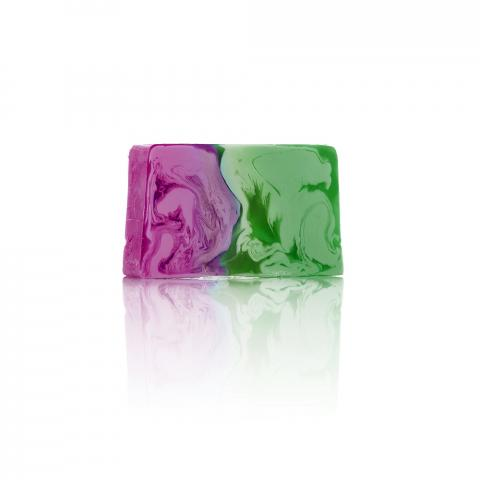 Natural Soap of vegetable glycerine and Rhubarb